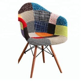 Multi Coloured Patchwork Armchair For Home / Restaurant / Coffee Bar