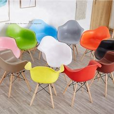 Custom Kids Plastic Chairs , Coloured Armchair Style Dining Chairs